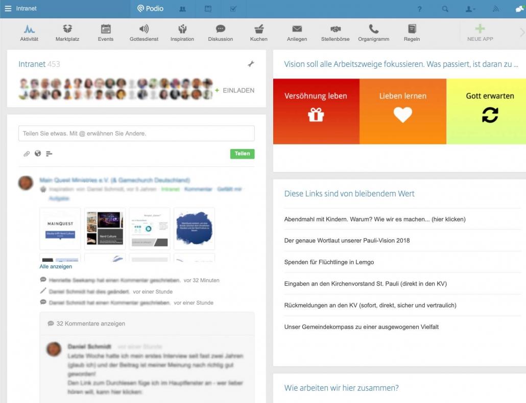 Nexs Workspace - Aktivitäten Übersicht